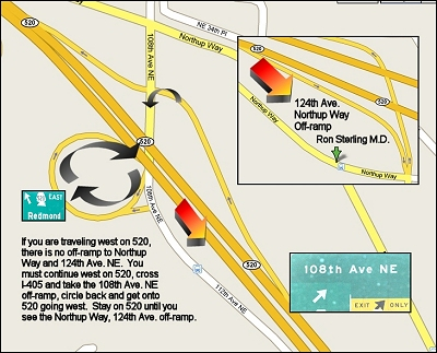 Map of area near 12356 Northup Way, Bellevue, WA